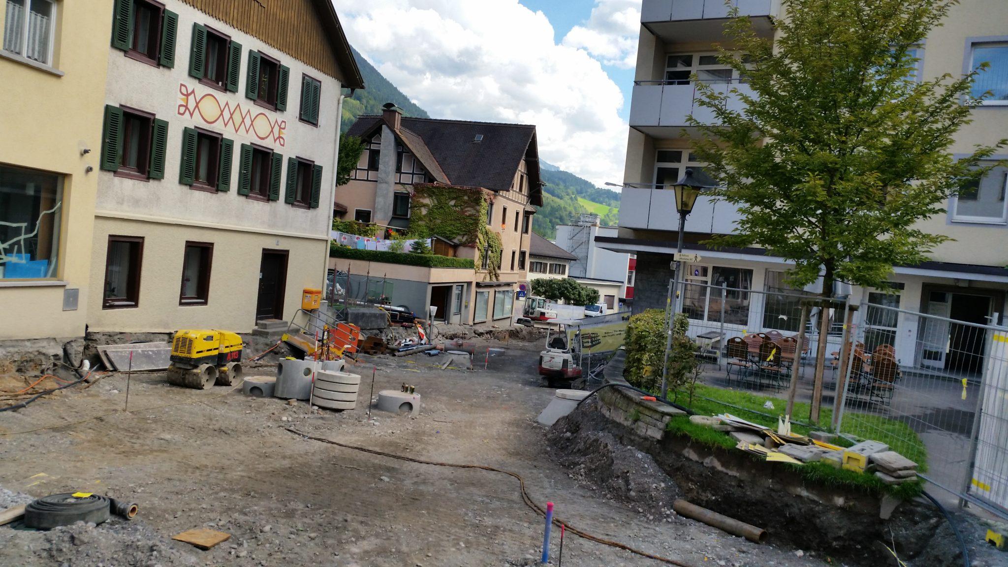 Herrengasse Bludenz Baustelle