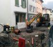 Baustelle Mühlgasse - Ende März 2015